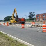 Median Barrier Demolition, East Side of the Bridge