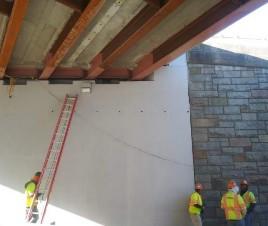 Sealing holes on the bottom UHPC on bridge 1017 span 1