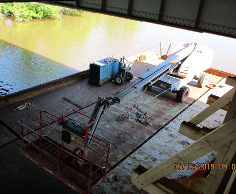 Forming Platforms for Jacking Angles on The Barges at West Approach