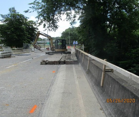 East Capitol Street Bridge Over Anacostia River, South Bridge Sidewalk Demo.