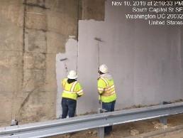 Applying primer on bridge 1016 abutment B