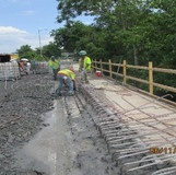 Removing Existing Rebars, South Bridge.
