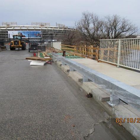 Installing Historic Railing, North Bridge.