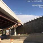 Applying second coat of paint on bridge 1016, span 2 west parapet