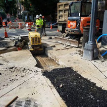 Compaction of RC-6 material at the NW corner of P Street