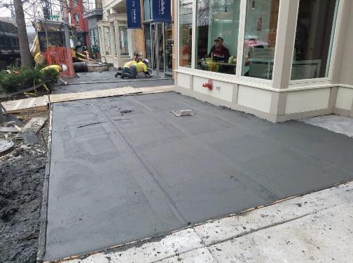 Installation new PCC Sidewalk