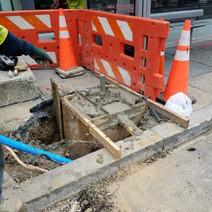 Installation of new Streetlight Foundation between N Street and Rhode Island Ave