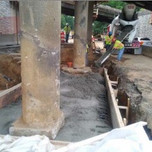 Concrete pouring for Jacking foundation on AFW Bridge # 1017 @ Pier footings under S. Capitol St. SEB