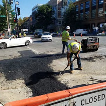 Placement of Temporary Asphalt over Electrical Trench