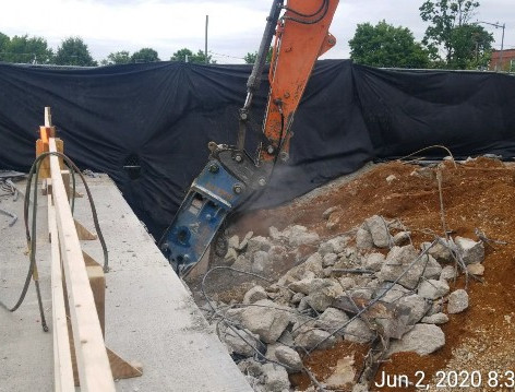 Backwall Reconstruction, South Bridge.