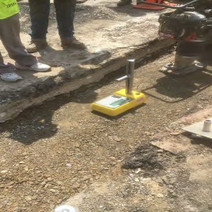 Aggregate Base Compaction Testing before PCC Base placement