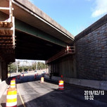 Bridge 1017 Abutment A over EB South Capitol St