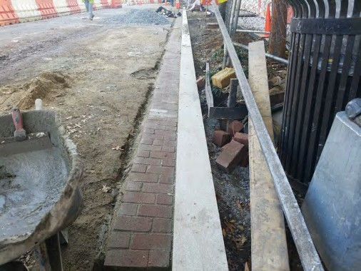 Installation of Brick Gutter between N Street and Rhode Island Ave westside
