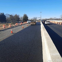 Paving Operation at East Approach EB, Looking West.