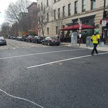 R St west of 14th St asphalt placement