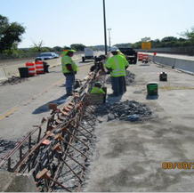 Removing Median Barrier at the Base of the Existing Overhead Sign Structure #1