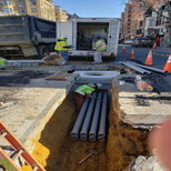 "Installation of 4"" PVC Conduit at the 14th and U Street"