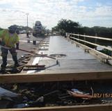 Sidewalk Concrete Placement, South Bridge.