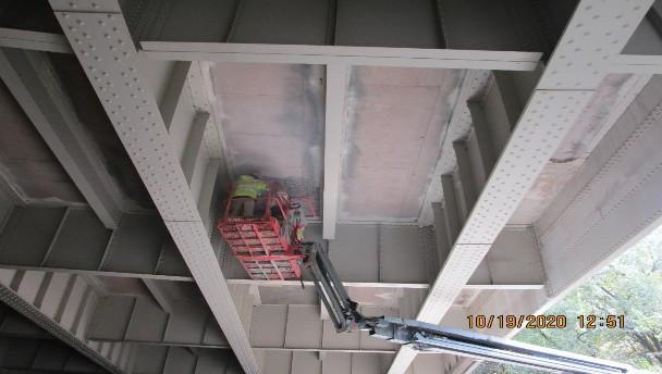 Deck Repair Underneath the Bridge, South Bridge.
