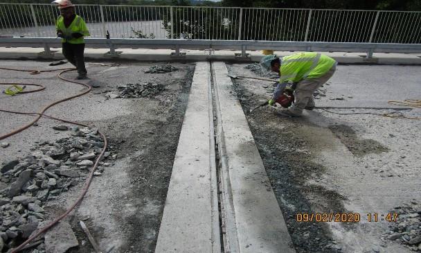 Prepping for LMC Overlay, South Bridge.