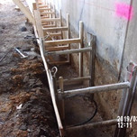 Excavation for superstructure support foundation bridge 1017 Abutment B