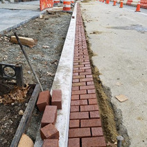 Installation of Brick Gutter between P and Q Street