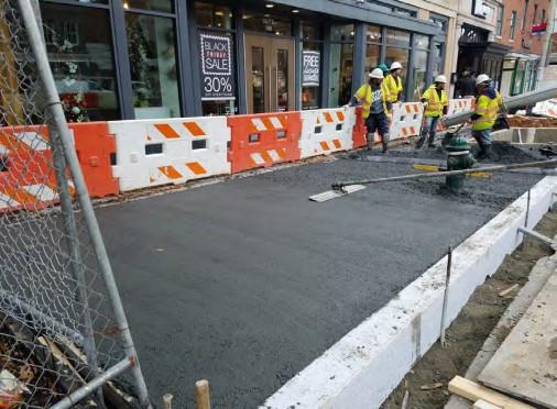 Placing PCC Sidewalk between N Street and Rhode Island Ave