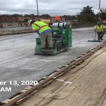 Surface Prep for LMC Overlay, South Bridge.
