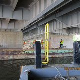 Forming Platforms for Jacking Angles at North Bridge Pier 4