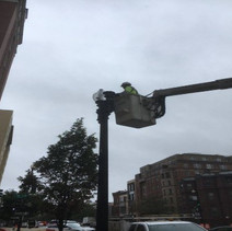 Installing the 100-watt LEDs and Globes on Twin 20 Street Lights