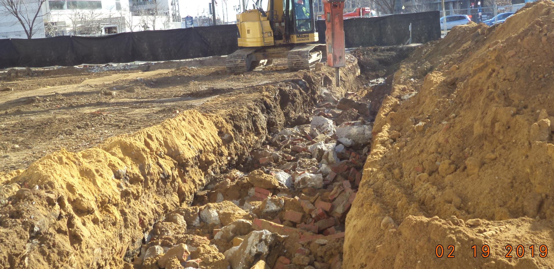 Building demolition foundations