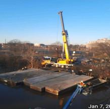 Demobilizing Barges, West Approach