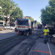 Milling operations on NB lane of 14th St going towards Rhode Island Ave.