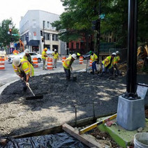 Placement of PCC Sidewalk at the SE corner of Rhode Island Ave