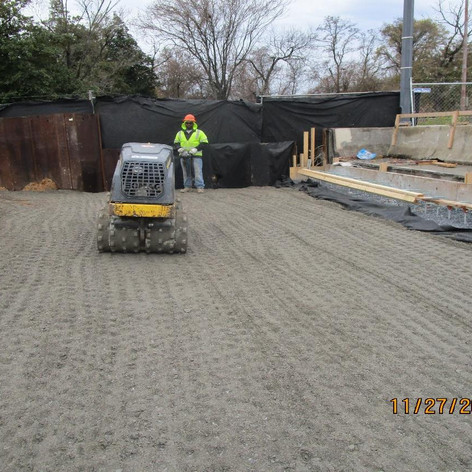 Structural and Embankment Backfill at the East Abutment Backwall,North Bridge.