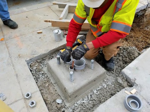 Installation of Ground Rod and Conduit Rings