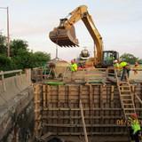 Backwall Reconstruction, East Abutment.