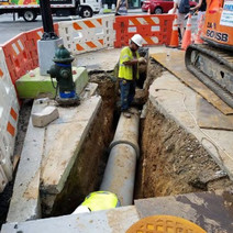 "Installation of Catch Basin 15"" PCC Connection pipe at NE corner of 14th and P Street"