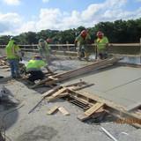 Sidewalk Concrete Span 2, South Bridge.