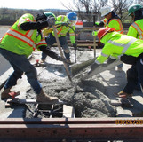 Placing Armored Joints, North Bridge.