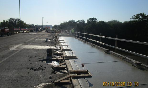 South Bridge Sidewalk Concrete Placement