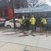 FMCC civil crew removing transformer
