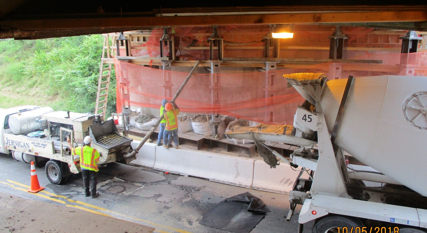 Preparing for Abutment Wall Reconstruction