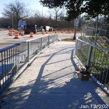 Installed Pedestrian Railing, NPS Property at East Approach.