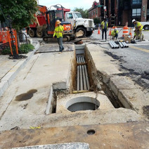 Installation of Manhole and Electrical Conduit at the NW Corner of Florida Ave and 14th Street