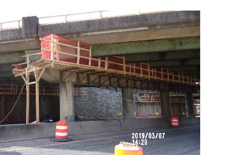 Bridge 1016 Pier cap demolition