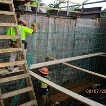 Installing Backwall Rebar at Ramp C, South Bridge.