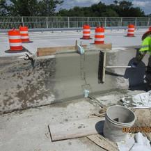 Strip Seal Joint Reconstruction at Parapet, South Bridge.