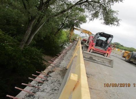 Removing Existing Railing, North Bridge