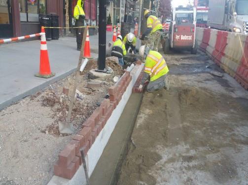 Installation of Brick Gutter Between Rhode Island and P Street